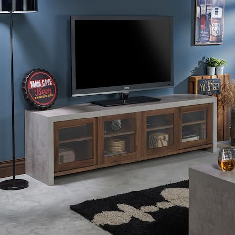 Furniture of America Haylin Industrial Cement-like Storage TV Stand