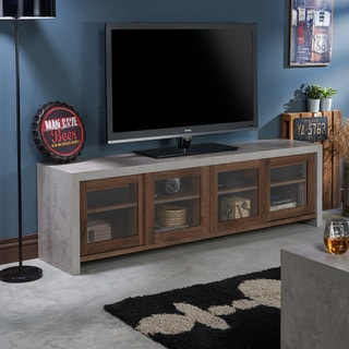 Furniture of America Haylin Industrial Cement-like Multi-storage TV Stand