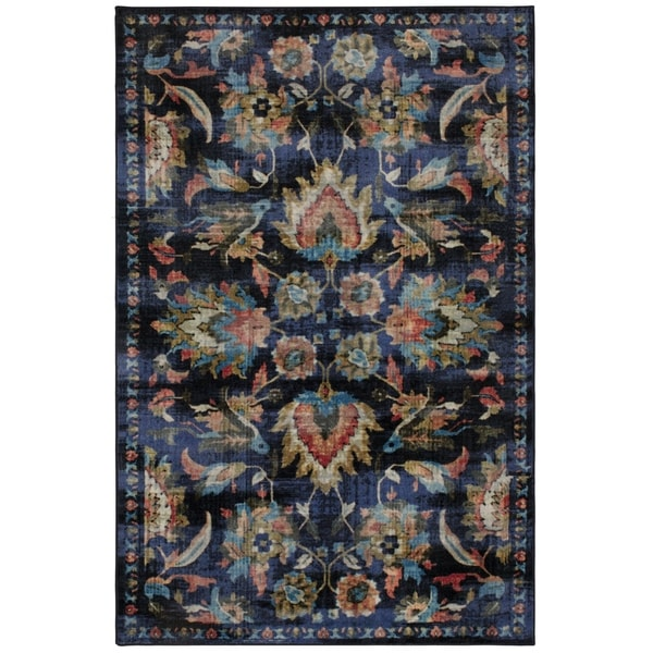 Gracewood Hollow Pulci Traditional Floral Area Rug