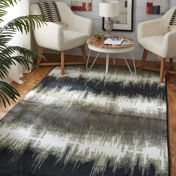 The Curated Nomad Abney Grey Tie Dye Area Rug - 5' x 8'