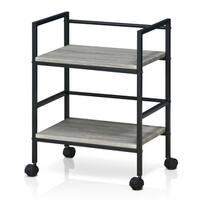 Clay Alder Home Gold Brook Modern Storage Cart with Casters, Dark Oak