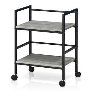 Clay Alder Home Gold Brook Modern Storage Cart with Casters, Dark Oak