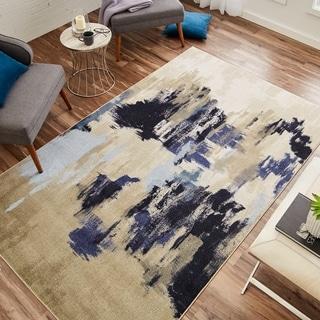 Carbon Loft Appert Beige/ Blue Modern Abstract Area Rug - 5' x 8'