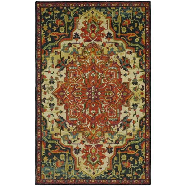 Gracewood Hollow Pirandello Traditional Distressed Area Rug