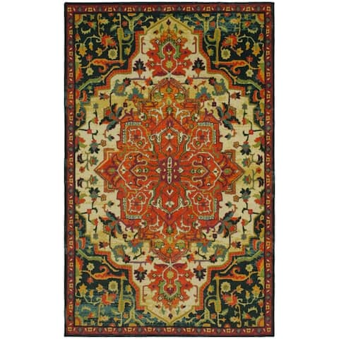 Mohawk Home Emiko Traditional Ornamental Medallion Area Rug