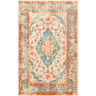 Gracewood Hollow Serao Traditional Distressed Area Rug - 5' x 8'