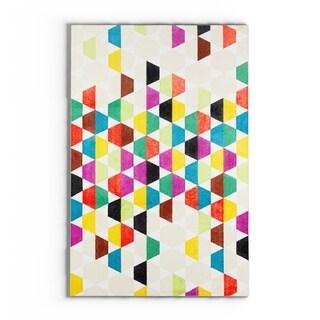 Carson Carrington Bildudalur Home Modern Multicolor Geometric Area Rug - 5' x  8'