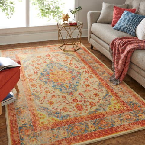 Gracewood Hollow Serao Traditional Distressed Area Rug