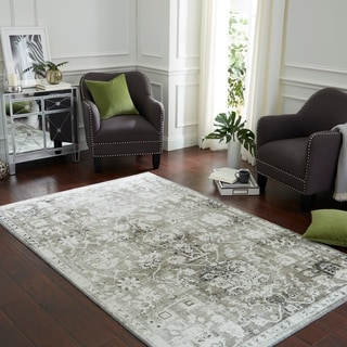 Copper Grove Indravati Distressed Traditional Floral Area Rug