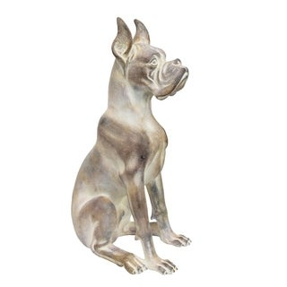 Sagebrook Home 12571-01 Polyresin Dog, Ant White Polyresin, 12 x 9.5 x 21.75 Inches