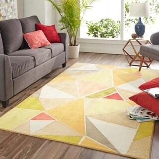 Carson Carrington Raufarhofn Modern Angles Area Rug - 8' x 10'