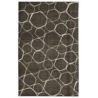 Carbon Loft Apgar Graphic Canvas Area Rug