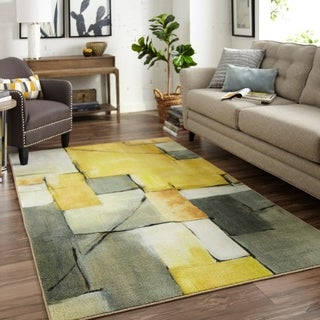 Carson Carrington Kirke Painted Geo Area Rug - 5' x 8'