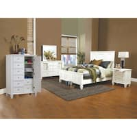 5-Piece Nicholson White Bedroom Set With Man's Chest