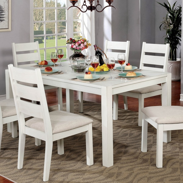 White Kitchen Tables For Sale: Shop Furniture Of America Peterson Rustic Farmhouse 64