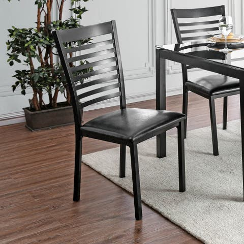 Furniture of America Lova Contemporary Side Chairs Set of 2