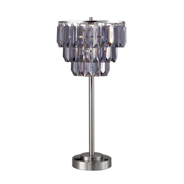 Furniture of America Letty Contemporary Tiered Crystal Table Lamp