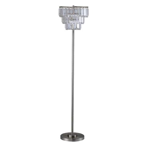 Furniture of America Letty Contemporary Metal Round Floor Lamp