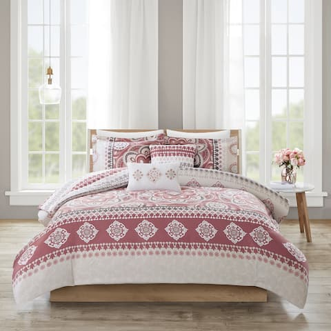 510 Design Kori Rose 5 Piece Reversible Print Comforter Set