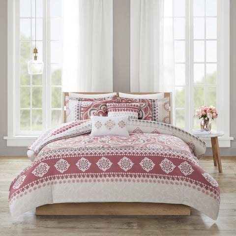 510 Design Kori Rose 5 Piece Reversible Print Duvet Set