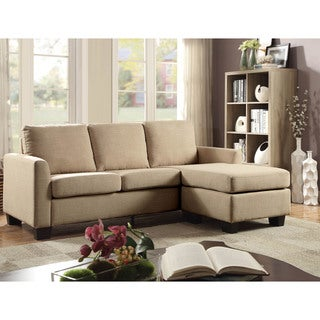 Furniture of America Millbrook Contemporary Linen Sectional Sofa