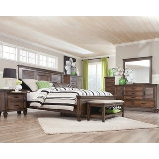 Franco Burnished Oak 4-piece Bedroom Set
