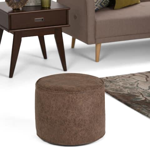 Carbon Loft Tudor Round Pouf