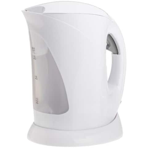 White Cordless Electric 1.7 Liter Kettle - White Cordless 1500 Watt Tea Kettle