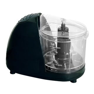 Black Compact Food Chopper - Small Electric Food Chopper