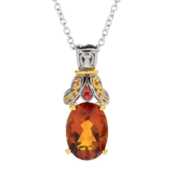 Michael valitutti palladium silver madeira citrine and dark orange michael valitutti palladium silver madeira citrine and dark orange sapphire pendant aloadofball Gallery