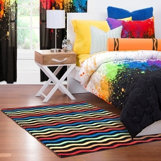 "Crayola Serpentine Stripe Multi Area Rug (3'6 x 5'6) - 3'6"" x 5'6"""