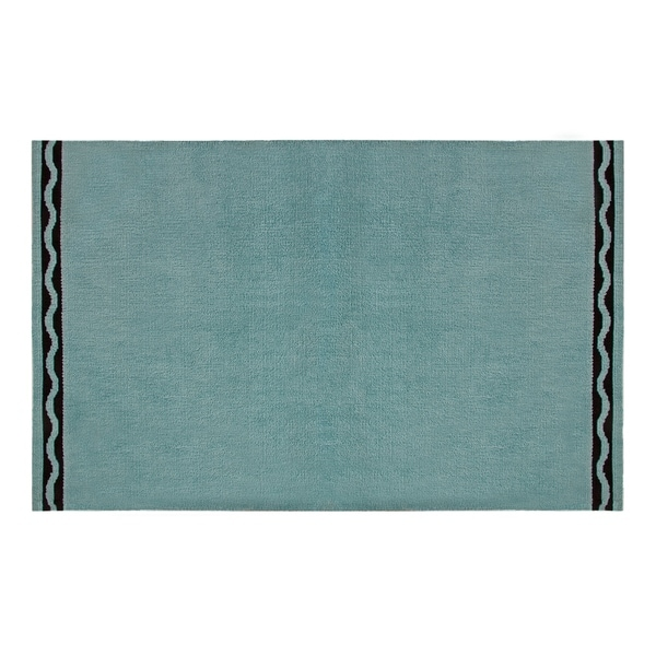 Crayola Robin's Egg Blue Serpentine Wave Area Rug