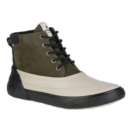 Men's Sperry Top-Sider Cutwater Deck Boot Olive/Tan Full