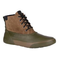 Men's Sperry Top-Sider Cutwater Deck Boot Brown/Olive Full Grain Leather