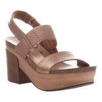 Women's OTBT Indio Block Heel Slingback Sandal Copper Leather/Polyurethane