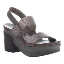 Women's OTBT Indio Block Heel Slingback Sandal Pewter Leather/Polyurethane
