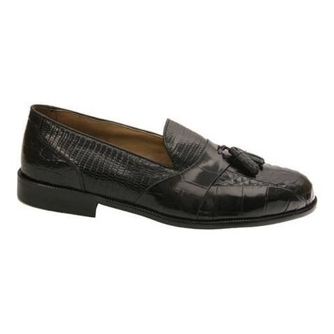 Men's Stacy Adams Alberto 23059 Black Snake w/ Croco and Lizard Print Leather