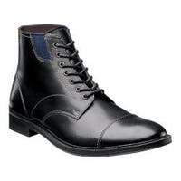 Men's Stacy Adams Dowling Cap Toe Boot 24978 Black Leather