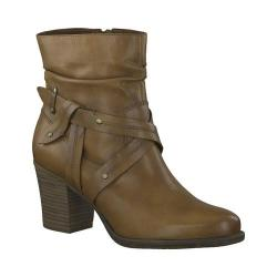 Women's Tamaris Tora Ankle Boot Nut Cow/Brown Leather