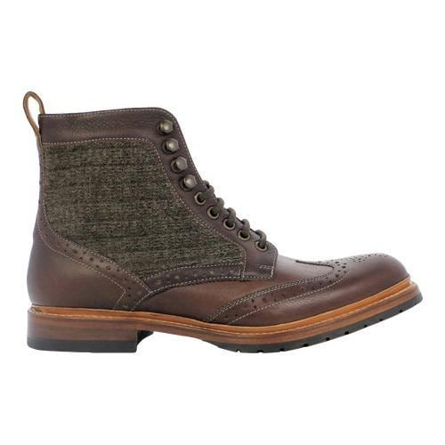 0ea41e7b4b0 Men's Stacy Adams Madison II Wingtip Lace Boot 00077 Brown Multi Leather
