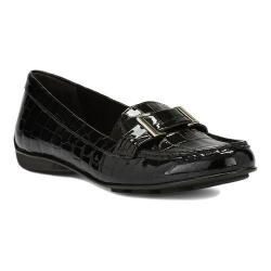 Women's Walking Cradles March Loafer Black Patent Croco Printed Leather