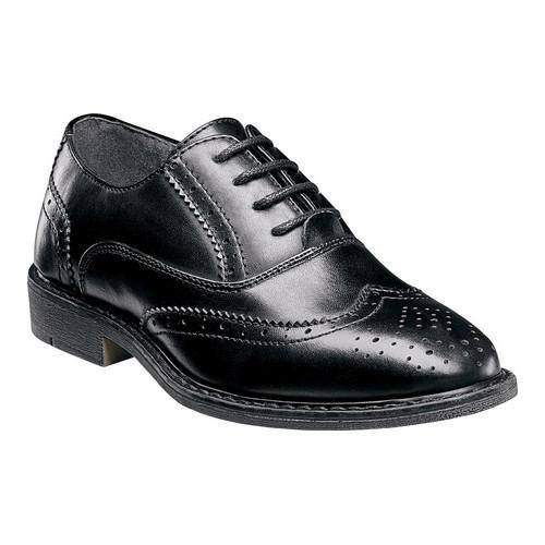 8e1ce7361 Shop Boys  Stacy Adams Ty Wingtip Oxford Black Faux Leather - Free Shipping  On Orders Over  45 - Overstock.com - 18531500