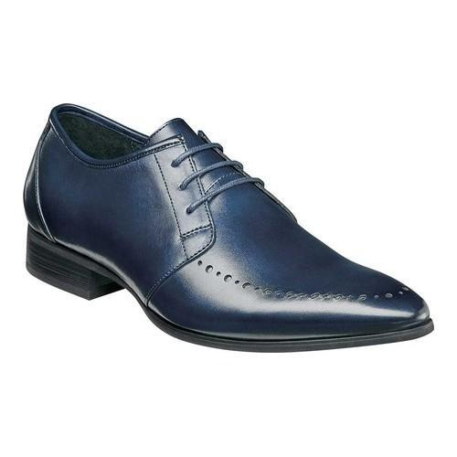 Men's Stacy Adams Vander Derby 25109 Ink Blue Leather
