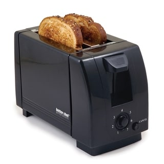 Black Compact 2 Slice Toaster