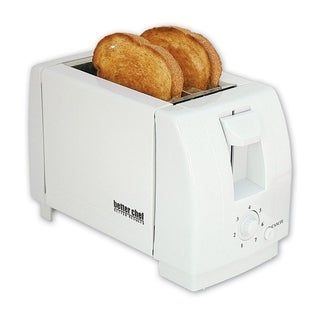White Compact 2 Slice Toaster