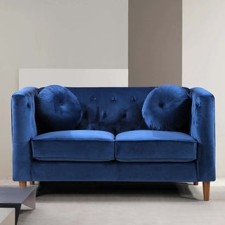Kitts Classic Traditional Chesterfield Upholstered Loveseat