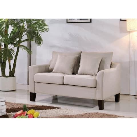 Michael Classic Modern Upholstered Loveseat