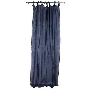 Sagebrook Home TC10294-03 Linen Sheer Curtain Panel, Navy Linen, 55 x 102 Inches