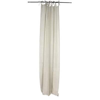 Sagebrook Home TC10294-01 Linen Sheer Curtain Panel, Natural Linen, 55 x 102 Inches