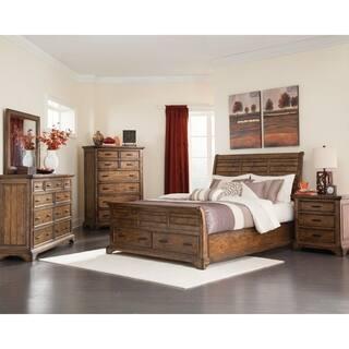 elk grove rustic rich bourbon 4 piece bedroom set - Rustic Bedroom Set